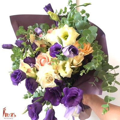 Colorful Lisianthus & Carcuma